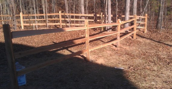 farm ranch wood rail fences